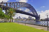 Sydney Harbour Bridge with City Skyline, Australian Icon located in Sydney, Australia