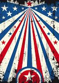 USA scratched background . A vintage USA poster with a texture for your publicity