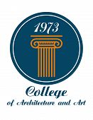 College of Architecture and Art emblem