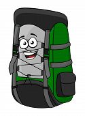 Green cartoon rucksack or backpack