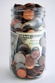 Geld in jar