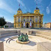 Croatian National Theater In Zagreb