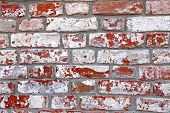 The Texture Of The Ancient Red Brick Wall