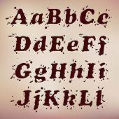 Dark Chocolate Splash Font. Set Vol.1 A-l