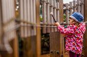 Little girl playing tubular bells