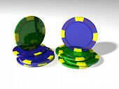 Two Stack Poker Chips