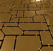 Gold Plates Background