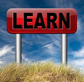 learn and study and find info information sign. Online education unniversity and learning. Search and find knowledge online.