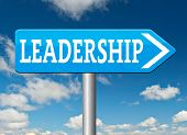 natural leader great leadership in business and other markets road sign