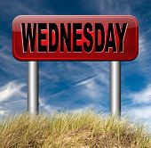 wednesday sign event calendar