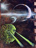 Street art Montreal x-ray people