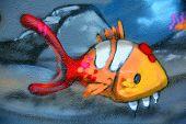 Street art Montreal fish