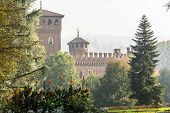 The Medieval Castle in Valentino Park, Turin