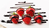Strawberries Dipped In Chocolate Sauce