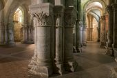 Pillars In Crypt In Church In Saintes France