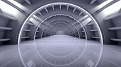 Abstract Modern Background, empty futuristic interior