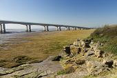 Western End Of The Second Severn Crossing, Bridge Over Bristol Channel Between England And Wales. Fi