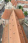 Roof Of St Peter's Church, Munich.