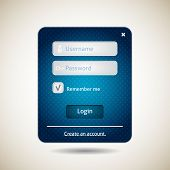 Login form ui grunge blue element