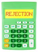 Calculator With Rejection On Display