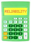 Calculator With Reliability On Display Isolated