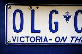 Detail Of An Australian License Plate
