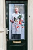 Poster At A Dutch Front Door: The Vegetarian Butcher