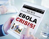 Digital Online News Headline Ebola Crisis Concept