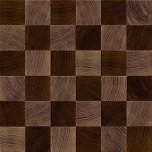 Seamless wood chessboard background.