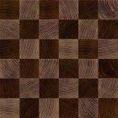 Seamless wood chessboard background.