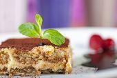 Tiramisu dessert on a plate