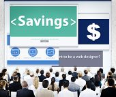 Business People Savings Design Concept