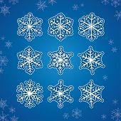 Hand Drawn Vector Snowflakes