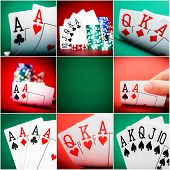 set of different actions and scenes in casino