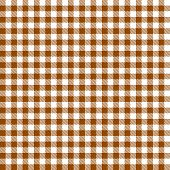 Checkered Tablecloths Pattern - Endless - Brown