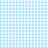 Checkered Tablecloths Pattern - Endless - Light Blue