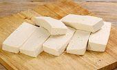 Sliced Uncooked Tofu