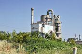 A futuristic factory plant in Makarska