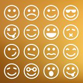 image of angry smiley  - Flat and round smiley icons for your design - JPG
