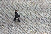 Bird's-eye View Of A Businesswoman Walking