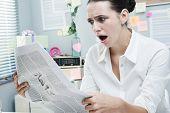 Bad News On Financial Newspaper