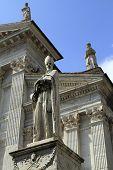 Urbino, Italy, September, 2014. The Statue Of Blessed Maynard