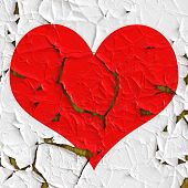 Red Heart As Old Foil