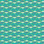 Abstract circular and wavy seamless background vector