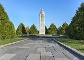 Canadian Ww I War Memorial In Langemark, Belgium.