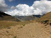 Jeep Road In Desert-like Himalayan Scenery