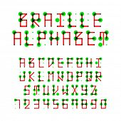 Braille alphabet. Vector.