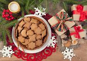 Gingerbread cookies with christmas  decoration