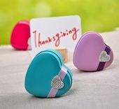 Thanksgiving Day heart-shaped gift box