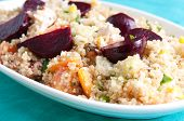 picture of beet  - beet salad with quinoa and chicken - JPG